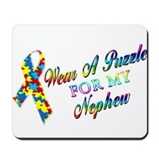 I Wear A Puzzle for my Nephew Mousepad
