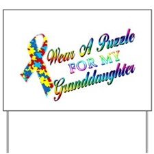 I Wear A Puzzle for my Grandd Yard Sign