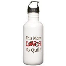 Mom Loves To Quilt Water Bottle
