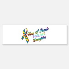 I Wear A Puzzle for my Daught Bumper Bumper Sticker