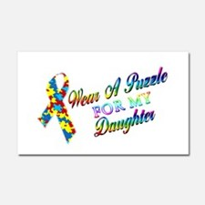 I Wear A Puzzle for my Daught Car Magnet 20 x 12