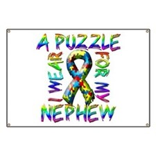I Wear A Puzzle for my Nephew Banner