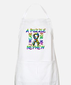 I Wear A Puzzle for my Nephew Apron
