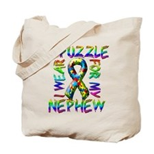 I Wear A Puzzle for my Nephew Tote Bag