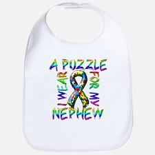 I Wear A Puzzle for my Nephew Bib