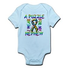 I Wear A Puzzle for my Nephew Infant Bodysuit