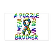 I Wear A Puzzle for my Brothe Car Magnet 20 x 12