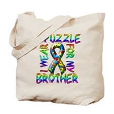 I Wear A Puzzle for my Brothe Tote Bag