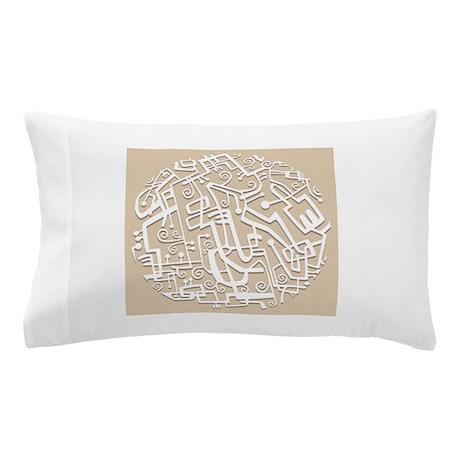 Tanzania Taupe Geometric Pillow Case