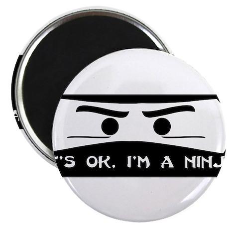 "NINJA SHIRT IT'S OK I'M A NIN 2.25"" Magnet (10 pac"