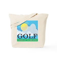 Golf Fairway to Heaven Tote Bag