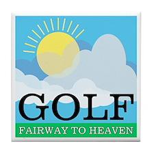 Golf Fairway to Heaven Tile Coaster