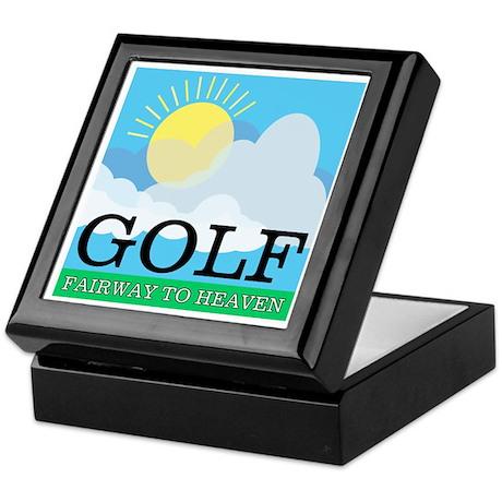 Golf Fairway to Heaven Keepsake Box