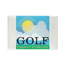 Golf Fairway to Heaven Rectangle Magnet