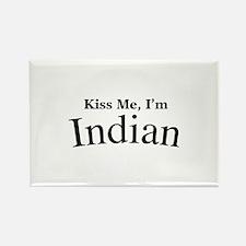 Kiss Me, I'm Indian Rectangle Magnet
