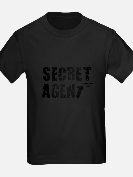 SECRET AGENT SHIRT TEE KIDS S T