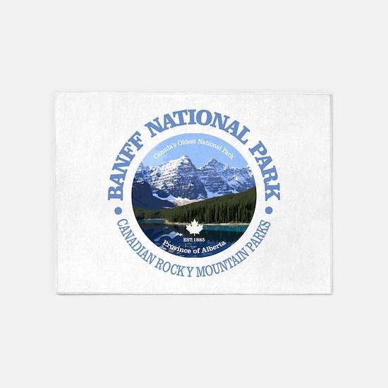 Banff National Park 5'x7'Area Rug