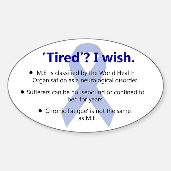 ME Awareness Sticker (Oval)