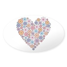 Flower hearts ~ Muted colors Decal