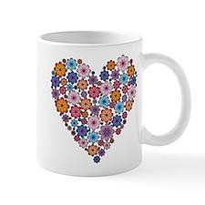Flower hearts ~ Muted colors Mug