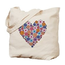 Flower hearts ~ Muted colors Tote Bag