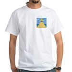 The pyramid, eye and S&C White T-Shirt