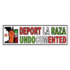 DEPORT ILLEGALS Bumper Sticker