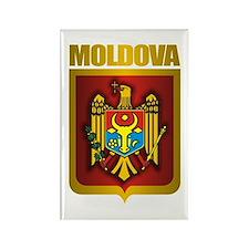 """Moldova Gold"" Rectangle Magnet"