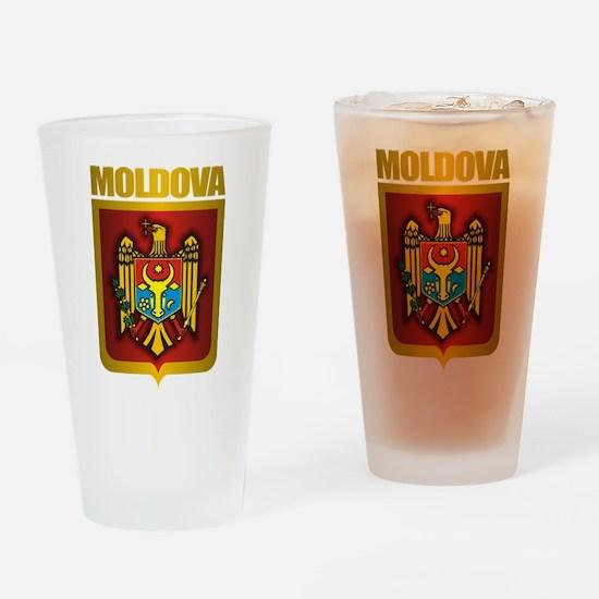 """Moldova Gold"" Drinking Glass"