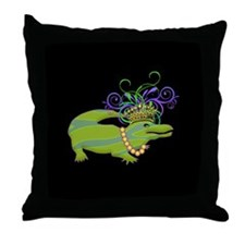 Royalty Gator Throw Pillow