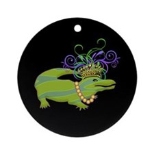 Royalty Gator Ornament (Round)