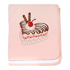 Chocolate Strawberry Cheesecake baby blanket