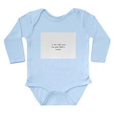 SaneCrazy Long Sleeve Infant Bodysuit