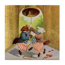 Roosevelt Bears Ring The Liberty Bell Tile Coaster