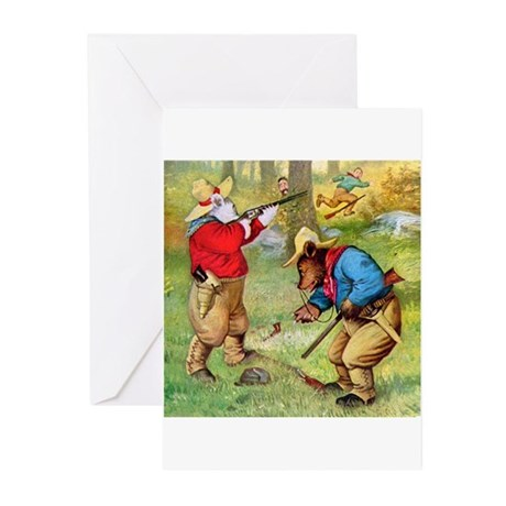 Roosevelt Bears as Cowboy Hunters Greeting Cards (