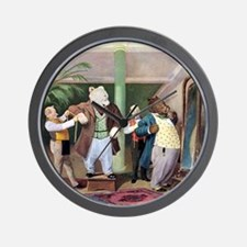 Roosevelt Bears at the Tailors Wall Clock