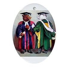 Roosevelt Bears Graduate Ornament (Oval)