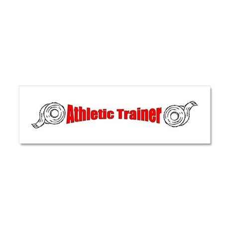 Athletic Trainer Car Magnet 10 x 3