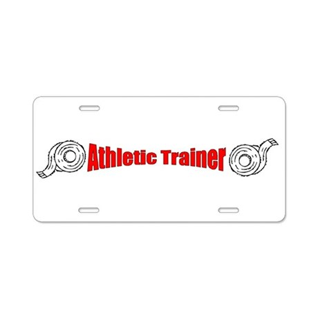 Athletic Trainer Aluminum License Plate