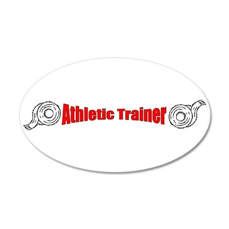 Athletic Trainer 38.5 x 24.5 Oval Wall Peel