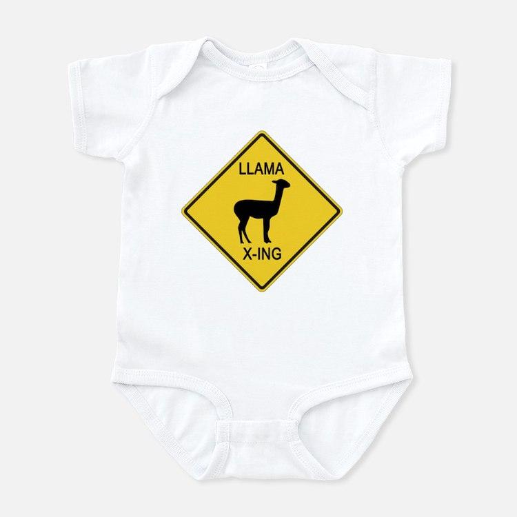 Llama Crossing Sign Infant Bodysuit