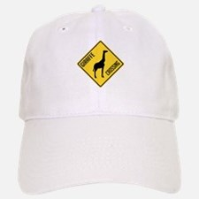 Giraffe Crossing Sign Baseball Baseball Cap