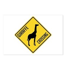 Giraffe Crossing Sign Postcards (Package of 8)