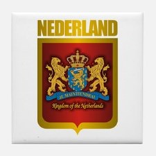"""Netherlands Gold"" Tile Coaster"