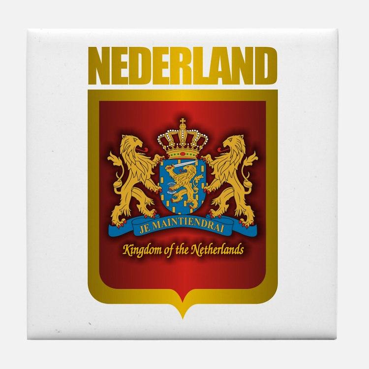 """""""Netherlands Gold"""" Tile Coaster"""