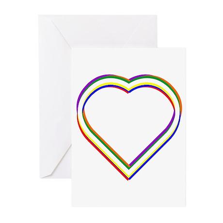 Rainbow Heart Greeting Cards (Pk of 10)