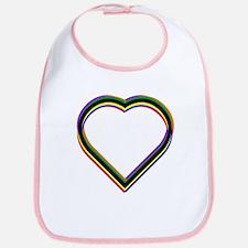 Rainbow Heart Bib