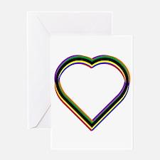 Rainbow Heart Greeting Card
