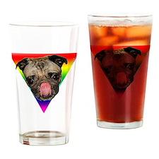 Pug Pride Drinking Glass