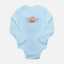 Pug Life Endless Summe Long Sleeve Infant Bodysuit